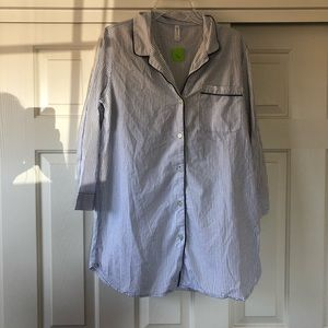 Button up shirt nightgown